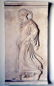 Bajo relieve romano bautizado « Gradiva » según la novela de Wilhelm Jensen