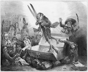 J.J. Grandville - Resurrección de la censura (1832)