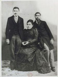 Jeanne Proust y sus hijos, Marcel y Robert