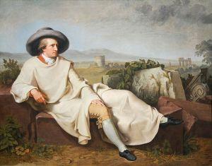 Johann Heinrich Wilhelm Tischbein - Goethe en la Campaña romana (1787)