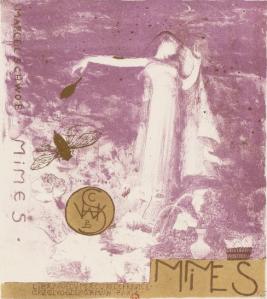 Jean Veber - Proyecto de cubierta para Mimes de Marcel Schwob (1894)