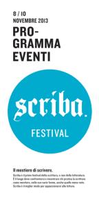 Festival Scriba : el fin del miedo a la página en blanco