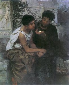 Henryk Siemiradzki – Una noche en Pompeya (1883-1884)