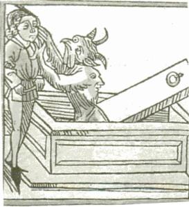Vampiro atancando a un cristiano (S. XVI)
