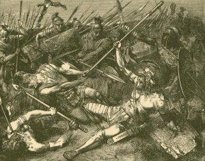 Hermann Vogel - La Muerte de Espartaco (1882)