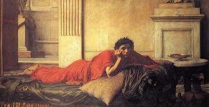 John William Waterhouse – El Remordimiento de Nerón (1878)