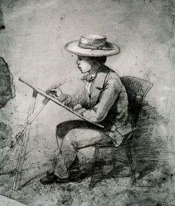 James McNeill Whistler - Boceto de John Ross Key (1854)