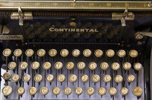 Teclado de una máquina de escribir Continental