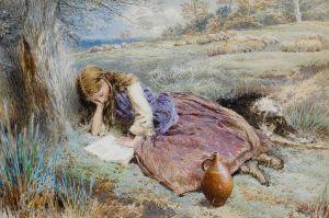 Myles Birket Foster - La Pastora (1899)