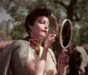 Robert Capa - Ava Gardner on the set of The Barefoot Contessa, Tivoli, Italy, 1954