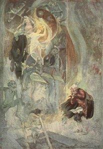 Charles Dickens - The Chimes (Las Campanas), ilustración de George Alfred Williams (1908)