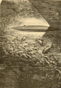 Jules Verne - 20000 Leguas de viaje submarino, edición ilustrada estadounidense de 1875