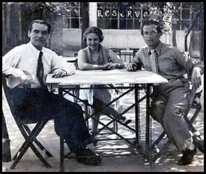 Federico García Lorca, María Teresa León y Rafael Alberti