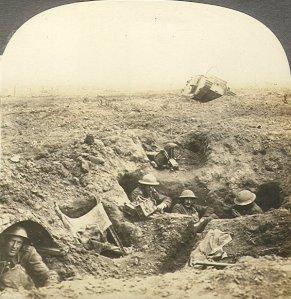 Soldados ingleses en las trincheras de la 1ª Guerra Mundial