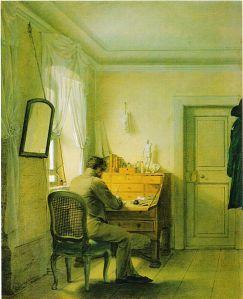Georg Friedrich Kersting - Hombre al escritorio (1811)