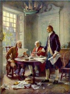 Jean Leon Gerome Ferris - Escribiendo la declaración de Independencia en 1776