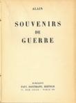 Alain - Souvenirs de guerre (1937)