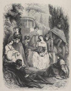 Giovanni Boccaccio - El Decamerón, edición francesa ilustrada de 1846