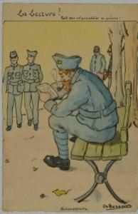 Charles Max Braemer – La Lecture, fait par un prisonnier de guerre (191?)
