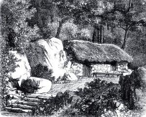 La cabaña de Jean-Jacques Rousseau (Ilustración de 1860)