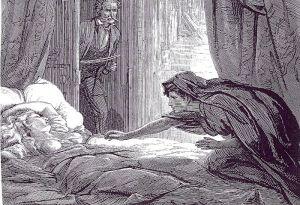 Joseph Sheridan Le Fanu - Carmilla, ilustración de David Henry Friston (1872)
