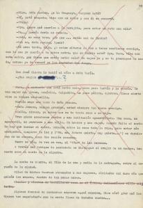Una página del manuscrito de « La Colmena » tachada por la censura