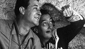 Robert Descharnes y Salvador Dalí