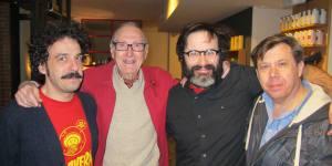 Dario Adanti, Andrés Vázquez de Sola, Eduardo Galán y Carlos Pacheco en la presentación del documental « Trazos de una vida »