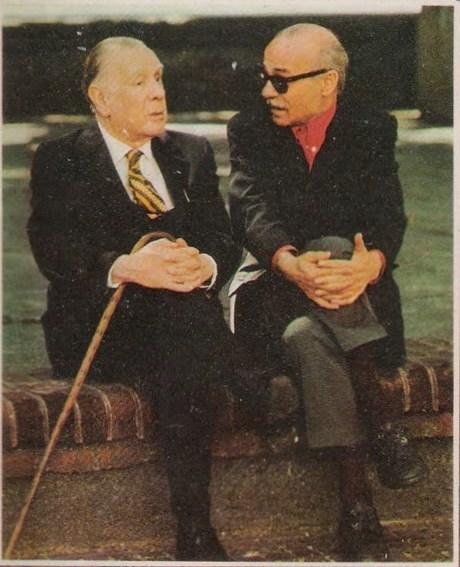 Jorge Luis Borges y Ernesto Sabato en 1975