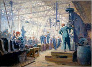 George Andrew Reid – Operarias en una fábrica de obuses (1919)