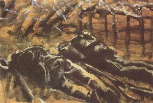 Laszlo Mednyánszky – Los Soldados muertos (191?)