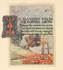 John McRae – In Flanders fields, ilustración de Ernest Clegg (1921)