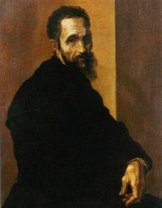 Michelangelo Buonarotti, retratado por Jacopino del Conte (1535)