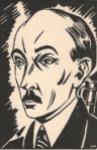 Retrato de Pierre Jean Jouve por Frans Masereel