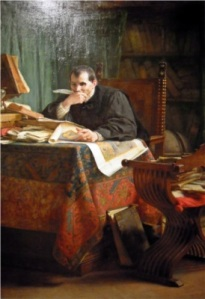 Stefano Ussi - Maquiavelo en su despacho (1894)