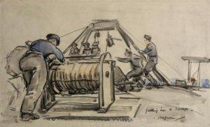 Geoffrey Stephen Allfree – Getting in a sweep (191?)