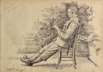 Ernest Blaikley - In the garden, C I C's House, St Omer (1916)