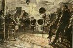 Muirhead Bone – The cinema on a battleship (1917)