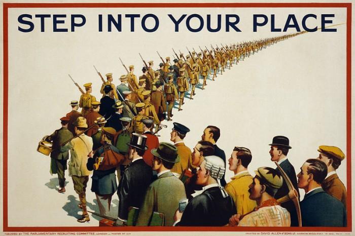Cartel de propaganda inglés (1915)