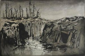 Adrian Hill - Men in the Trenches, near Hendicourt (191?)