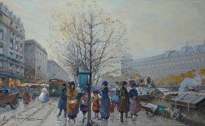 Eugène Galien-Laloue - Les Bouquinistes (1908)