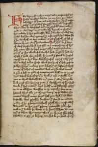 El manuscrito de la primera autobiografía en inglés de la mística medieval Margery Kempe por la British Library