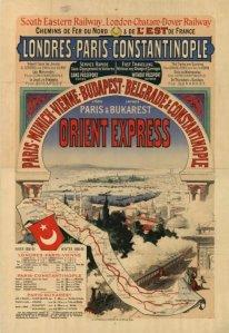 Cartel publicitario del Orient Express (1888)