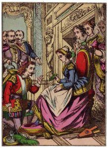 Anónimo – Cenicienta, imagen de Épinal (S. XIX)
