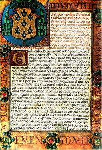 Una página del manuscrito de El Victorial, o Crónica de don Pero Niño (S. XV)