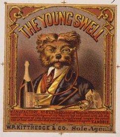 The Young Swell - Publicidad para una marca de tabaco, 1869