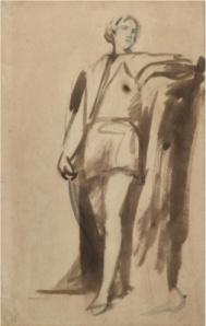 George Romney - Retrato de Hamlet (1745-1802)