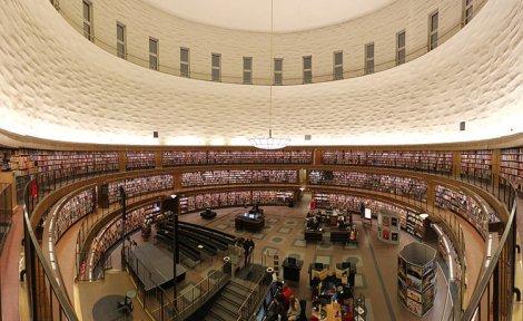 La biblioteca Odenplan de Estocolmo