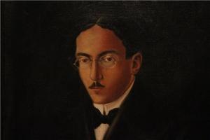 Retrato de Fernando Pessoa por el pintor Rodríguez Castañé