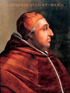 Cristofano dell'Altissimo - Retrato del papa Alejandro VI